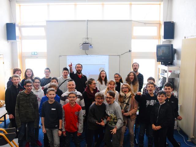 LeTempsMachine-Action Culturelle-DEPLO-2017-2018-Savigné-sur-Lathan-YachtClub-Intervention en classe- 12 mars 2018 -